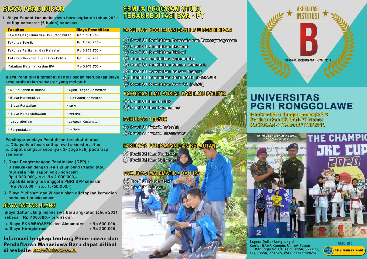 Info PMB Unirow 2020/2021